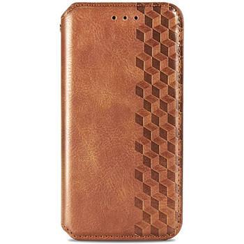 Кожаный чехол книжка GETMAN Cubic (PU) для Huawei P Smart (2021) / Y7a Коричневый