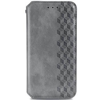Кожаный чехол книжка GETMAN Cubic (PU) для Huawei P Smart (2021) / Y7a Серый
