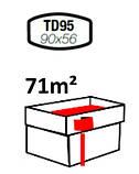 Тройник трубы водостока квадрат 90/56 мм, фото 2