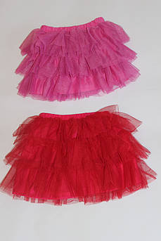 Детская юбка Фатиновая Красная, малиновая Размер 116 - 134 см