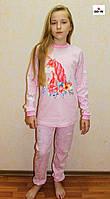 Піжама дитяча для дівчинки інтерлок єдиноріг рожева 30-40 р.