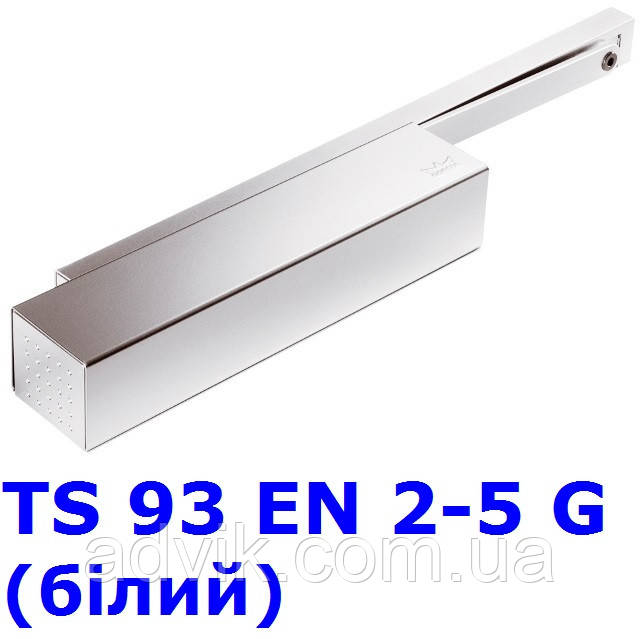 Доводчик Dorma TS 93 EN 2-5 G з ковзною тягою (білий)