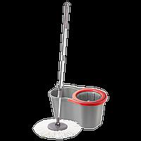 Набор для уборки Planet Spin Mop Joy 16 л серый - красный