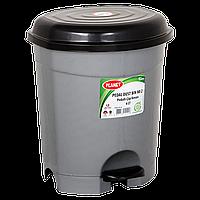 Відро для сміття з педаллю Planet №2 6 л металік