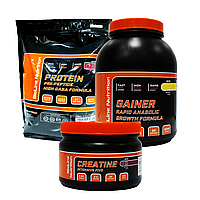 Комплекс Для набора массы: Протеин Германия 2 кг + Гейнер 3 кг + Креатин в Подарок!