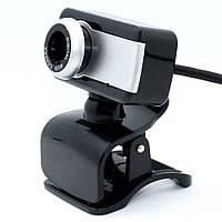 Проводная компьютерная веб-камера со встроенным микрофоном DL517 USB Webcam на прищепке для Zoom учебы