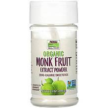 """Подсластитель архат NOW Foods """"Organic Monk Fruit Extract Powder"""" с нулевой калорийностью, порошок (19,85 г)"""