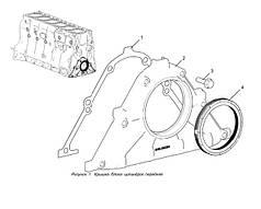 Крышка блока цилиндров передняя