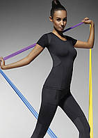 Спортивная футболка женская для фитнеса Electra TM Bas Bleu (Польша) Цвет черный, фото 1