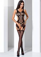 Сексуальный бодикомбинезон 066 TM Passion (Польша) Цвет черный Размер S/L, фото 1