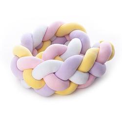 Бампер - косичка Twins 4-х прядная 220 см 2020 K4-220-20, multicolor, мультицвет