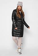 Удлиненная демисезонная черная куртка прямого кроя x-woyz-ls-8867-8
