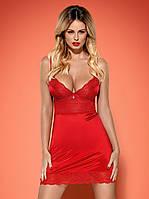 Сорочка пеньюар Lovica от Obsessive (Польша) Цвет красный, фото 1