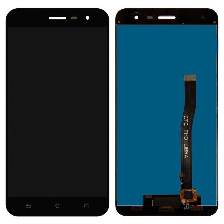 Дисплей (экран) для Asus ZenFone 3 (ZE552KL) Z012DC с сенсором (тачскрином) черный Оригинал