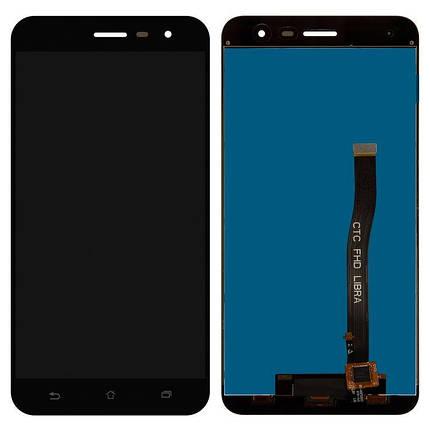 Дисплей (экран) для Asus ZenFone 3 (ZE552KL) Z012DC с сенсором (тачскрином) черный Оригинал, фото 2
