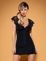 Элегантная ночная сорочка Moketta Obsessive (Польша) Цвет черный, фото 1