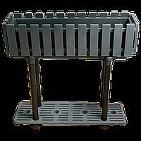 Горшок для цветов балконный с подставкой на ножках Akasya 11 л антрацит