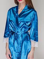 Халат атласный женский 411 TM Serenade Синий, фото 1