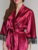 Халат атласный женский 611 TM Serenade Бордовый, фото 1