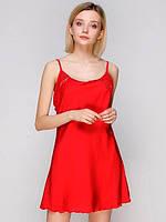 Сорочка ночная шелковая 182 от TM Serenade (Украина) Цвет красный, фото 1