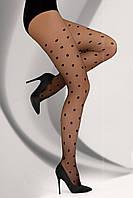 Колготки женские в горошек Samila 20 den от TM Livia Corsetti (Польша) Черный цвет, фото 1