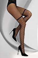 Колготки женские имитация чулок сеточкой Prandina 20 den от TM Livia Corsetti (Польша) Черный цвет, фото 1