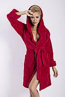 Махровый халат Diana TM Dkaren (Польша) Цвет малиновый, фото 1