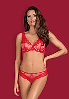 Комплект женского белья 853-SET-3 от Obsessive (Польша) Красный, фото 1