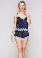 Велюровая пижама 5003 Цвет синий Реал фото!, фото 1