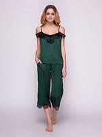 Шелковая пижама женская 507 от TM Serenade (Украина) Цвет зеленый, фото 1