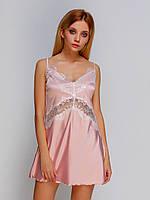 Женская сорочка сатиновая 2106 TM Serenade Цвет пудровый, фото 1