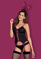 Ролевой костюм Кролика Bunny black от Obsessive (Польша) S/M