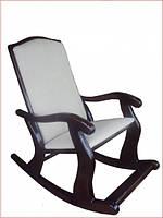 Крісло-гойдалка з масиву дерева Люкс, фото 1