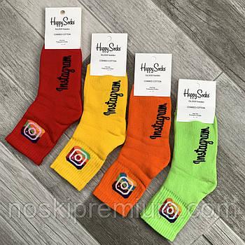 Новорічні шкарпетки жіночі махрові бавовна Happy Socks, Туреччина, розмір 36-40, асорті, 01025