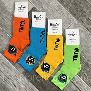 Новорічні шкарпетки жіночі махрові бавовна Happy Socks, Туреччина, розмір 36-40, асорті, 01027