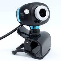 Проводная компьютерная веб-камера со встроенным микрофоном DL817 USB Webcam на прищепке для Zoom учебы