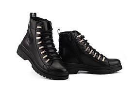 Жіночі черевики шкіряні зимові чорні Carlo Pachini 4-1498/20-15