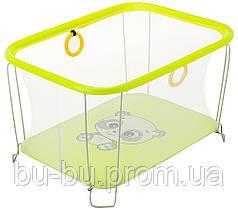 Манеж Qvatro Солнышко-02 мелкая сетка  желтый (panda)