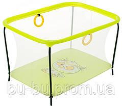 Манеж Qvatro LUX-02 мелкая сетка  желтый (owl)
