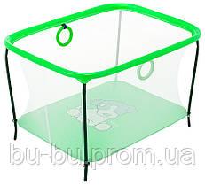 Манеж Qvatro LUX-02 мелкая сетка  зеленый (dog)