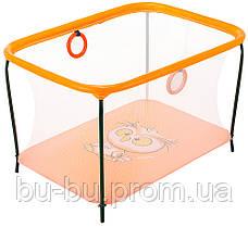 Манеж Qvatro LUX-02 мелкая сетка  оранжевый (owl)