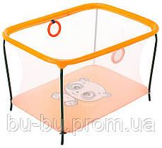 Манеж Qvatro LUX-02 мелкая сетка  оранжевый (panda)