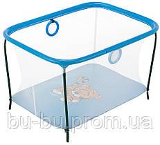 Манеж Qvatro LUX-02 мелкая сетка  синий (panda)