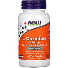 "L-карнітин NOW Foods ""L-Carnitine"" 250 мг (60 капсул)"
