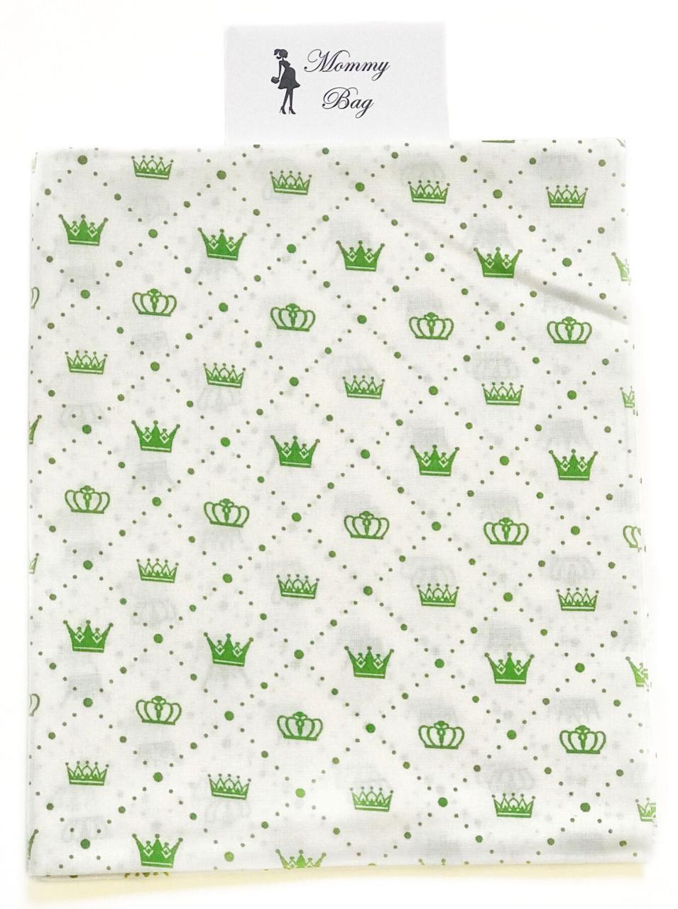 Пеленка ситец Зеленые короны #11
