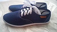Женские кеды джинсовые. Летняя женская обувь кроссовки., фото 1