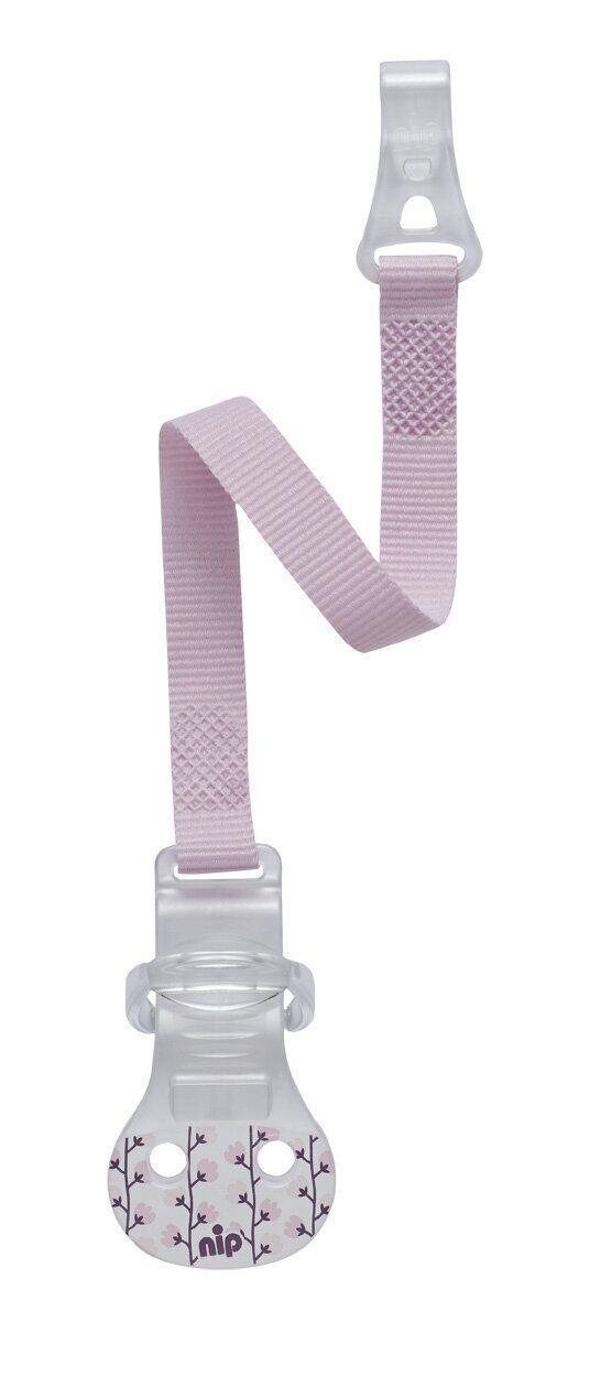 Лента для пустышки с крючком Nip (Розовая)
