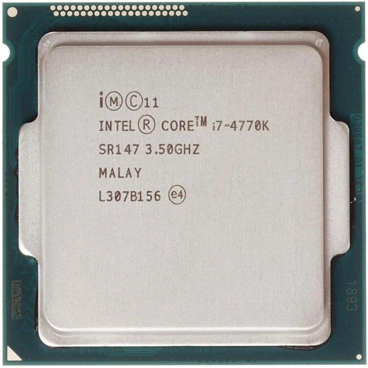 Процессор, Intel Core i7-4770k, 8 ядер, 3.9 гГц