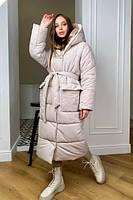 Длинная двухсторонняя зимняя куртка oversize Блу монклер  10260