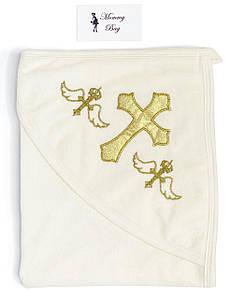 Крыжма-полотенце для крещения RoyalBaby Молочная с золотом